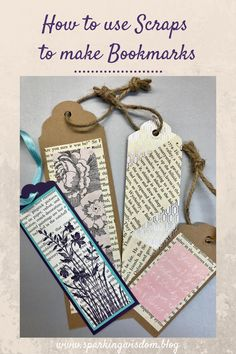 Cool Bookmarks, Homemade Bookmarks, Creative Bookmarks, Paper Bookmarks, Bookmark Craft, Watercolor Bookmarks, How To Make Bookmarks, Bookmark Ideas, Book Page Crafts