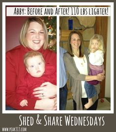 Shed & Share Wednesdays: Meet Abby V! (She's lost over 110 lbs!) | peak313.com