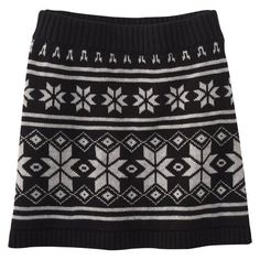 Cherokee® Girls' Fairisle Sweater Skirt - Ebony