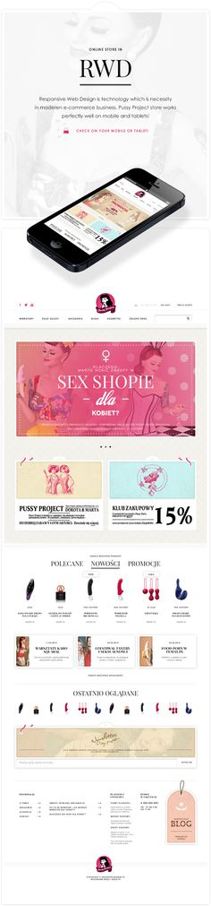 Pussy Project by CHALLENGE, via Behance #ecommerce #webdesign