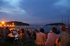 Waiting for fireworks at Bar Harbor #maine