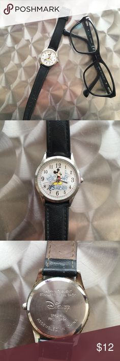 Mickey Mouse Watch 🤓 Very cool Disney 75 years Mickey Watch! ⌚️🐭  (Has some flaws, see pics) (Needs a new battery) Disney Accessories Watches