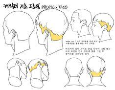 Drawing Heads, Body Drawing, Anatomy Drawing, Anatomy Art, Hand Drawing Reference, Anatomy Reference, Art Reference Poses, Hair Reference, Neko Girl