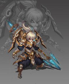 ArtStation - QQ仙俠傳, Lin Qing #armor #male #chibi