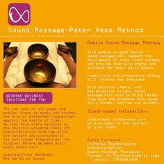 The sound massage affects each cell of the body. We can take the example of a lake. When a stone is thrown in it, the stone creates concentric movements of the water in this way the whole of the lake is put into motion. Similarly, when sounding the singing bowls on or near the body the vibration of the sound reaches each and every cell via the water in our body.