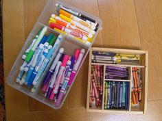 Organize art supplies by color FAMILY