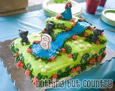 Custom Buttercream & Raspberry Birthday Cake - Brave Party @ http://www.nothingbutcountry.com