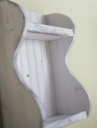How to whitewash furniture.