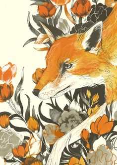 "The MOST gorgeous ""Fox"" print by Teagan White"