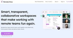 RendezView. Un tableau de bord collaboratif pour les équipes distantes Google Drive, Web 2.0, It Works, Teamwork, Taking Notes, Erase Board, Whiteboard, Executive Dashboard, Tools