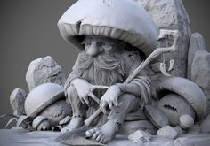St, Joseph Statues Where To Buy Refferal: 6338334694 # Norman Rockwell, Chris Riddell, 3d Mode, Sculpture Head, Polymer Clay Sculptures, Illustration, Gnome, Fantasy Miniatures, Cg Art