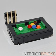 LEGO Furniture: Pool Table - Custom Set Interior Bricks…
