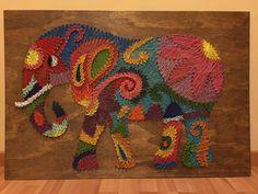 ELEPHANT MANDALA STRING ART
