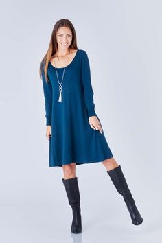 bird keepers The Cool Comfort Knit Dress - Womens Knee Length Dresses - Birdsnest Fashion Clothing