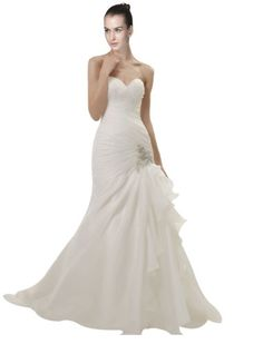 *Maillsa Fit & Flare Organza White Wedding Gowns,c0253 (2, White) Maillsa http://www.amazon.com/dp/B00KP84NC8/ref=cm_sw_r_pi_dp_9dD.tb0G3T112