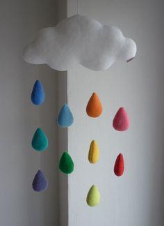 Nube arco iris móviles decorativo bebé por alelale en Etsy