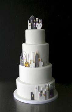 New york city skyline wedding cake cakes pinterest city sugarplum cake shop portfolioeat for a goodbye party for junglespirit Images