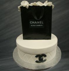Chanel themed wedding cake idea