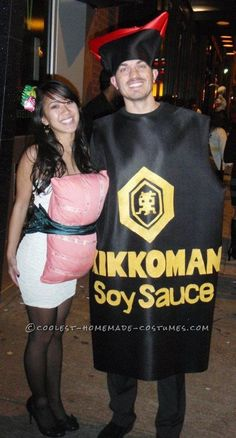Couples Sushi and Soy Sauce Halloween Costume... This website is the Pinterest of costumes