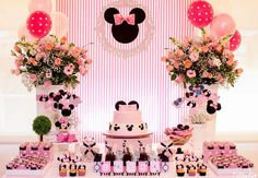 Mais de 30 ideias para você fazer uma linda festa da Minnie!