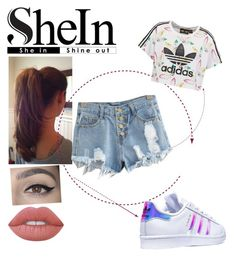"""""""#SHEin"""" by moniybrooks on Polyvore featuring adidas Originals, adidas and Lime Crime"""