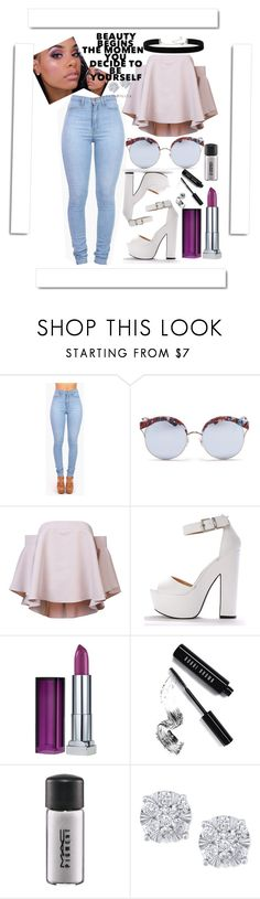 """Untitled #1157"" by tiffy54 ❤ liked on Polyvore featuring Vibrant, Stephane + Christian, Milly, Maybelline, Bobbi Brown Cosmetics, MAC Cosmetics, Effy Jewelry, 2028 and White Label"