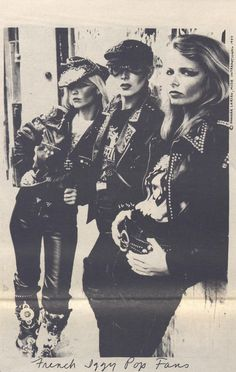 French Iggy Pop fans, Lust for Life Tour, Search and Destroy Zine, 1977