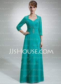 Mother of the Bride Dresses - $132.99 - A-Line/Princess Sweetheart Floor-Length Chiffon Mother of the Bride Dress With Ruffle Beading (008005695) http://jjshouse.com/A-Line-Princess-Sweetheart-Floor-Length-Chiffon-Mother-Of-The-Bride-Dress-With-Ruffle-Beading-008005695-g5695