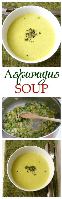 30-minute Asparagus Soup - Absolutely delicious!!! And so easy to make! Get the recipe on diethood.com (Easy Meal To Freeze Gluten Free)