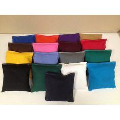 All Weather Cornhole Bags - Set of 8 Orange Black - AW-ORG/BLK
