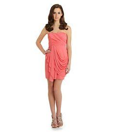 Sequin Hearts Strapless Draped Dress | Dillard's Mobile