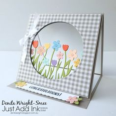 Denita Wright - Independent Stampin' Up! Demonstrator: Just Add Ink - 'Just Add and Easel' Denita Wright - Independent Stampin' Up! Demonstrator: Just Add Ink - 'Just Add and Easel' Stampin Up Catalog, Fancy Fold Cards, Easel Cards, Congratulations Card, Mothers Day Crafts, Flower Cards, Scrapbook Cards, Scrapbooking, Birthday Cards