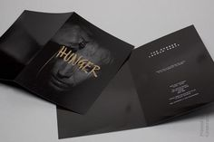 Identity Design. Graphic designer Ben Jeffrey created the Hunger identity including stationery, business cards and invitations for the Hunger launch party.