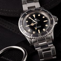 A beautiful vintage Rolex Submariner wristwatch from Bob's vintage collection.