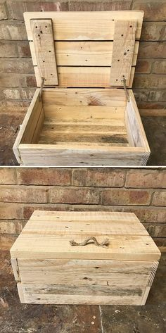 One level up pallet storage box ideas – DIY: Muebles/ideas Pallet Stand Ideas, Pallet Boxes, Diy Pallet Bed, Pallet Ideas Easy, Pallet Storage, Pallet Crafts, Diy Pallet Projects, Storage Boxes, Wood Projects