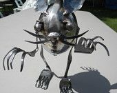 The Humble Forkupine,Silverware,Metal Sculpture,Welded Art. $38.00, via Etsy.