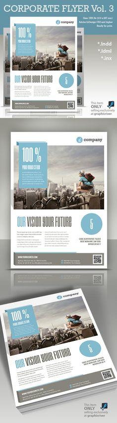 Corporate Flyer vol. 3 by Paulnomade Paulnomade, via Behance