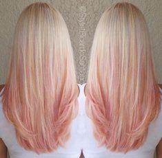 Image result for pink ombre golden blonde