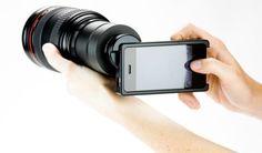 Acessórios deixam iPhone com cara de câmera fotográfica