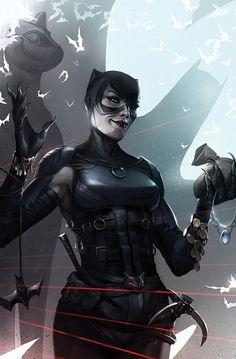 Batman variant cover - Catwoman by Francesco Mattina * Batgirl, Catwoman Comic, Batman And Catwoman, Batman Arkham, Batwoman, Batman 1, Batman Robin, B Card, Catwoman Selina Kyle
