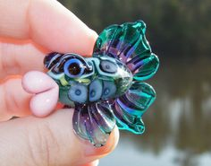 Lampwork Hollow Fish by Samantha Beads
