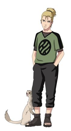 Asuma Nara_NEXT GEN OC_with shiro by Matt33oc.deviantart.com on @DeviantArt
