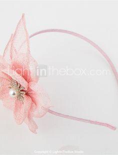 Children Sinamay Rhinestone Flower Headband Girls Fascinator (more colors)