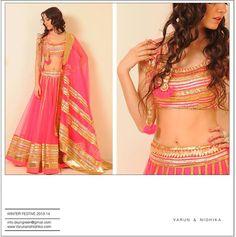 Gorgeous pink & gold lehenga