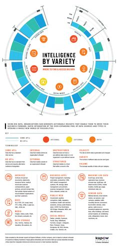 Intelligence by Variety - Where to Find and Access Big Data http://www.kapowsoftware.com/resources/infographics/intelligence-by-variety-where-to-find-and-access-big-data.php