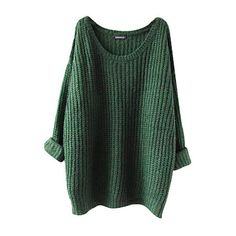 YouPue Sweater Jumper Pullovers Women's Oversized Round Neck Long... (£10) ❤ liked on Polyvore featuring tops, sweaters, shirts, oversized pullover sweater, over sized sweaters, long sleeve sweater, long sleeve pullover sweater and long sleeve jumper