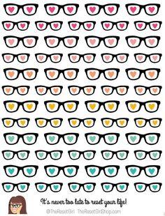 Honey Girl Glasses Icons - TheResetGirlShop