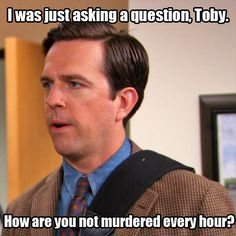 The Office Andy Bernard Best Of The Office, The Office Show, Office Quotes, Office Memes, Funny Office, Andy Bernard, Worlds Best Boss, Michael Scott, Parks N Rec