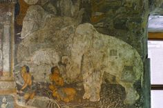 Ajanta, reichverzierte, wunderschoene Hoehlen