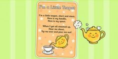 I'm a Little Teapot Nursery Rhyme Poster - rhymes, display, poster